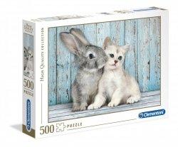 Puzzle Kot i Królik 500 el. Clementoni 35004