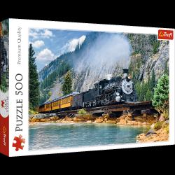 Puzzle Górski pociąg 500 el. Trefl 37379