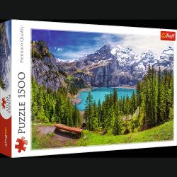 Puzzle Jezioro Oeschinen w Alpach 1500 el. Trefl 26166