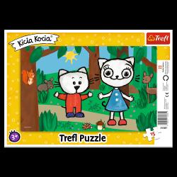 Puzzle Ramkowe Kicia Kocia w Lesie 15 el. Trefl 31387