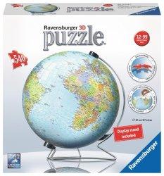 Trójwymiarowe Puzzle 3D Globus 540 el. Ravensburger 124367