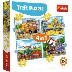 Puzzle 4w1 Duże Maszyny Budowlane 12/15/20/24 el. Trefl 34553