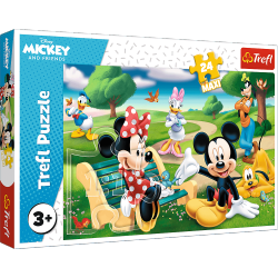 Puzzle Maxi Myszka Miki w Gronie Przyjaciół Myszka Mickey 24 el. Trefl 14344