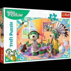 Puzzle Maxi Bawmy się Razem Rodzina Treflików 24 el. Trefl 14319
