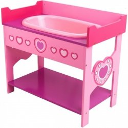 Drewniany stół z wanną do przebierania dla lalek Dolls World 08614