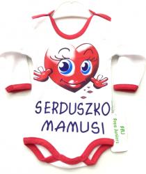 Body Niemowlęce długi rękaw z napisem Serduszko Mamusi