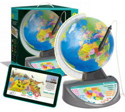 Globus Interaktywny z Rysikiem Optycznym Edukacyjna Mapa Świata dla Dzieci EduGlobus Clementoni 50670