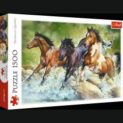 Puzzle Trzy Dzikie Konie 1500 el. Trefl 26148