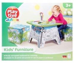 Kreatywne Mebelki dla dzieci stoli i 2 krzesła Play Tive 38101