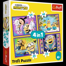 Puzzle 4w1 W Świecie Minionków 35/48/54/70 el. Trefl 34345