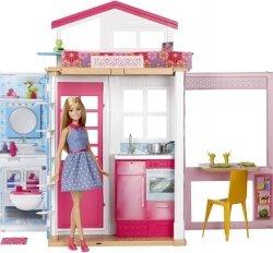 Piętrowy domek dla lalek z akcesoriami i Barbie Mattel DVV48