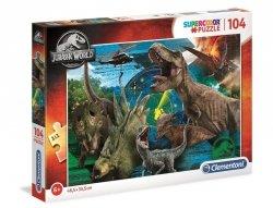 Puzzle Park Jurajski Dinozaury 104 el. Clementoni 27196