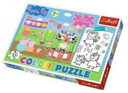 Puzzle Świnka Peppa 20 el. Color Trefl 36511