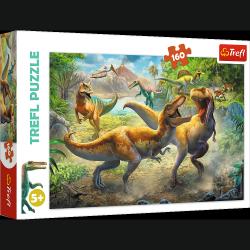 Puzzle Walczące Tyranozaury Dinozaury 160 el. Trefl 15360