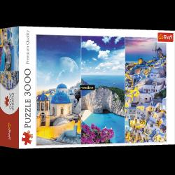 Puzzle Greckie Wakacje 3000 el. Trefl 33073