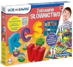 Gra planszowa Zabawne słownictwo Uczę się bawiąc Clementoni 50026