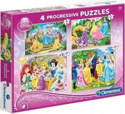 Puzzle 4w1 Princess 20+60+100+180 el. Clementoni 07708