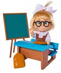 Lalka Masza w szkolnym stroju przy tablicy Simba 9301944