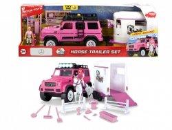 Playlife Różowy Zestaw Dżokejki Auto Koń Dickie 3838007