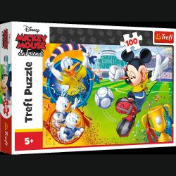Puzzle Myszka Miki na boisku 100 el. Trefl 16353