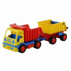 Ciężarówka Wywrotka z przyczepą Basics Wader 9647