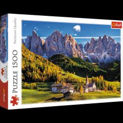 Puzzle Dolina Val di Funes Dolomity Włochy 1500 el. Trefl 26163