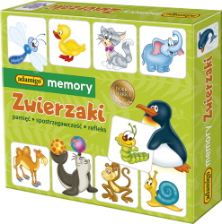 Gra Memory Zwierzaki Adamigo 00737