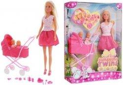 Lalka Steffi z Wózkiem i Dziećmi na Specerze Simba 5738060
