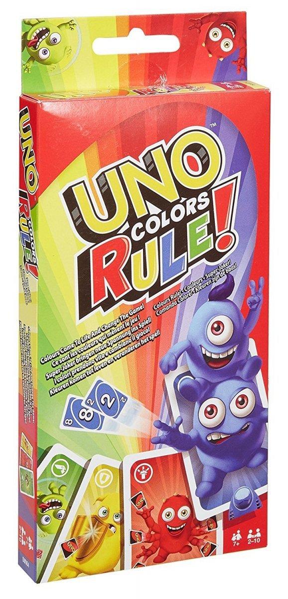 Gra UNO Kolory rządzą Mattel DWV64