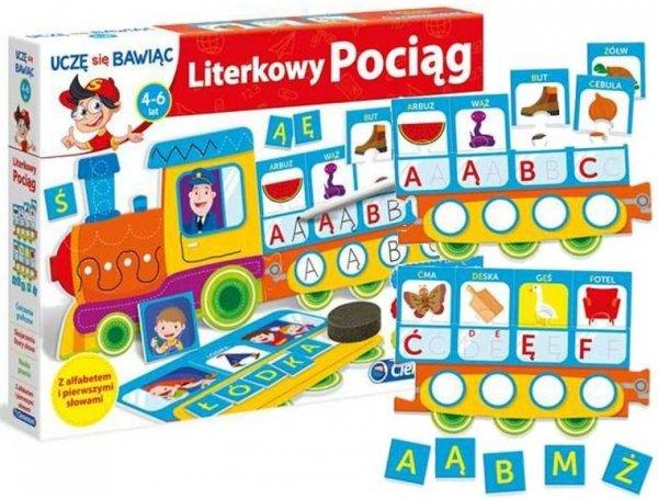 pociąg edukacyjny nauka literek alfabetu