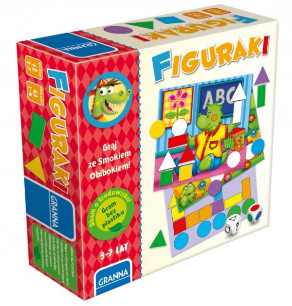 Gra Edukacyjna Figuraki Graj ze Smokem Obibokiem Granna 00363