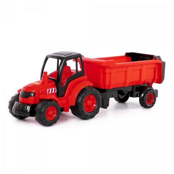 Duży Traktor z Naczepą Mistrz 74 cm Polesie 0445