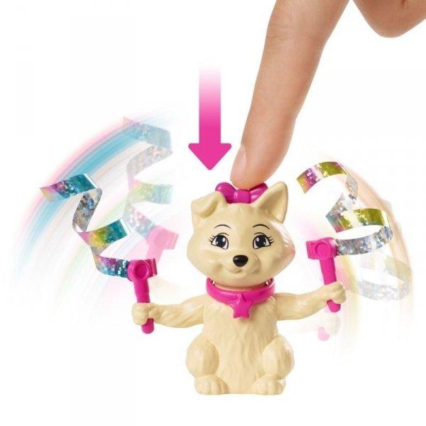 Lalka Teresa Barbie z Pieskiem Gimnastyczka Mattel GHK24