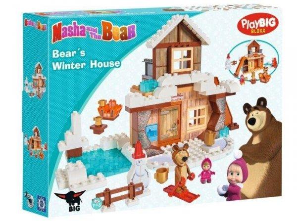 Klocki Masza i Niedźwiedź Zimowy Dom Niedźwiedzia