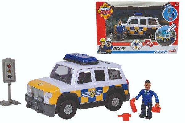 Strażak Sam Jeep Policyjny z Figurką Światło Dźwięk Simba 9251096