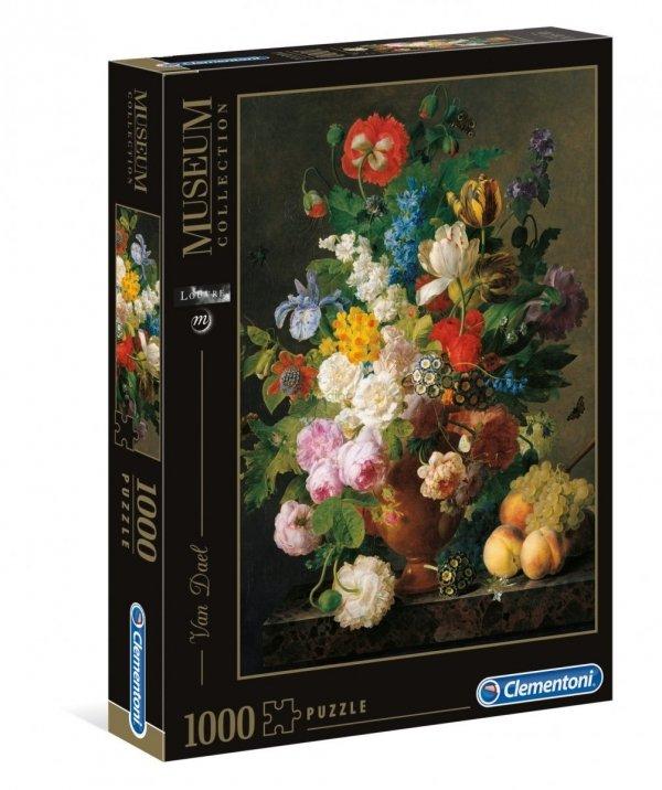 Puzzle Vaso di Fiori Van Dael 1000 el. Wazon z Kwiatami Clementoni 31415