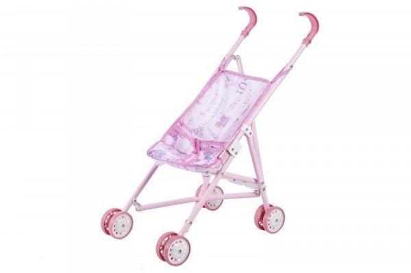 Wózek dla Lalek Spacerowy Różowy 52 cm