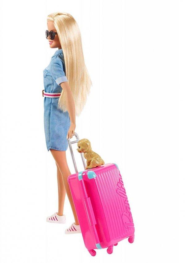 Lalka Barbie w Podróży z pieskiem i akcesoriami z filmu Dreamhouse Adventures