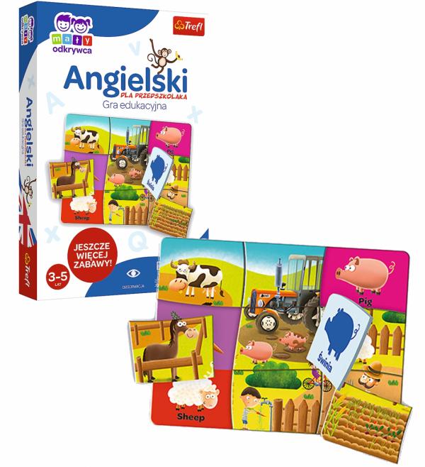 Gra Edukacyjna Angielski dla Przedszkolaka Mały Odkrywca Trefl 01949