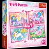 Puzzle MAGICZNY ŚWIAT JEDNOROŻCÓW 4 w 1 - Trefl