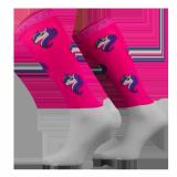 Podkolanówki jeździeckie UNICORN - Comodo - różowy neonowy