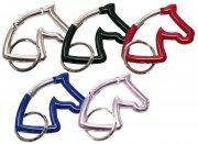 Kolorowy karabińczyk oczkowy do kluczy głowa konia - HAPPYROSS