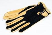 Rękawiczki letnie ze skóry jeleniej z siatką  - KENIG