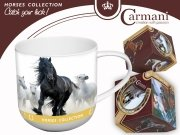 Kubek koń fryzyjski - Carmani
