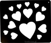 Szablon do wzorów na sierści konia- serca - Ekkia