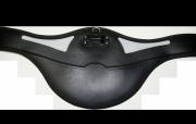 Popręg z fartuchem i żelem - Kavalkade - czarny