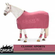 Derka polarowa FLEECE STAMP - CLASSIC SPORTS wiosna-lato 2021 - Eskadron - rouge