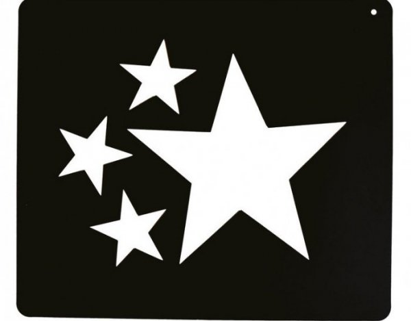Szablon do wzorów na sierści konia- gwiazdy - Ekkia