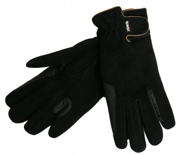 Rękawiczki skórzane ocieplane polarem - KENIG