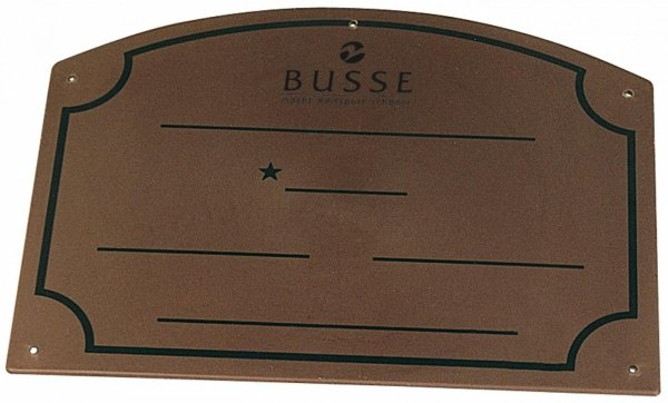 Tabliczka na boks - BUSSE